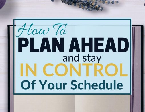 stay in control of your schedule