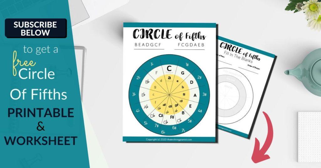 Circle of fifths printable