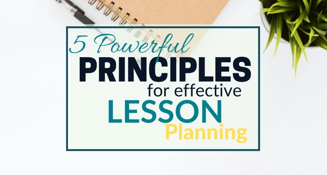 Principles for effective piano lesson planning