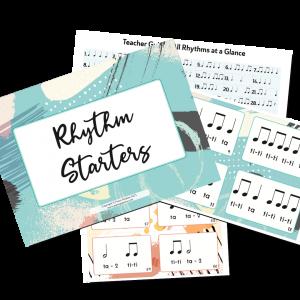 rhythms cards for kids